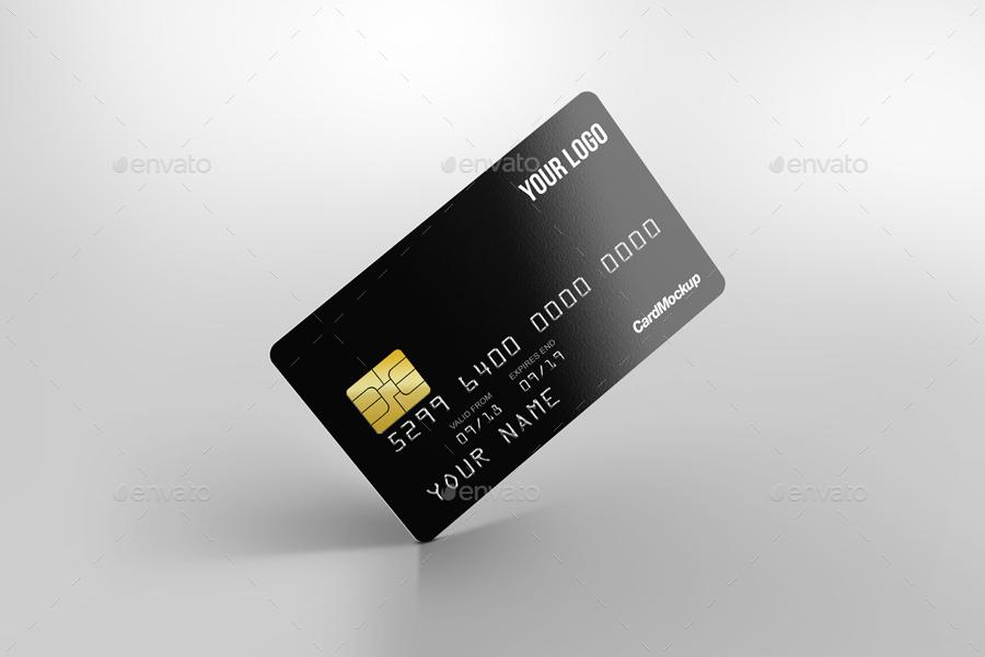 plastic credit card mockup - Plastic Credit Card