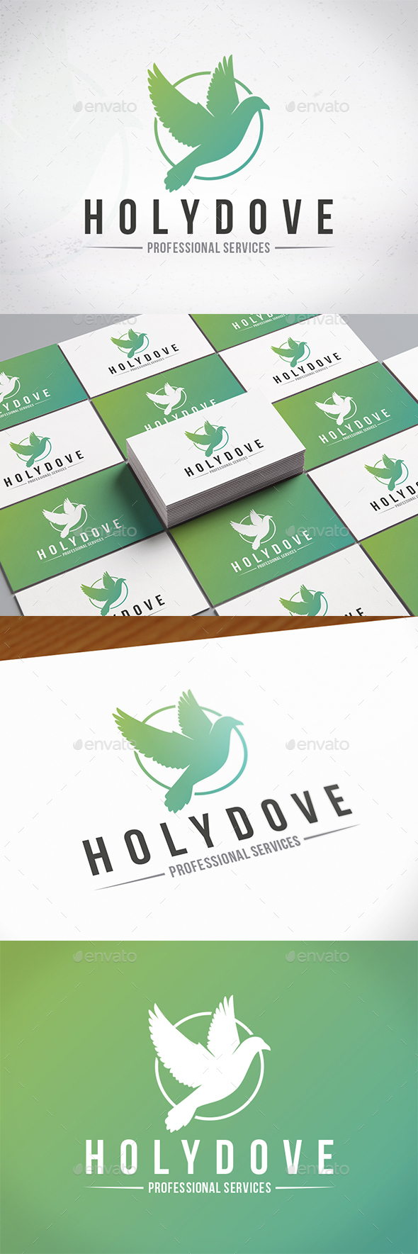 Holy Dove Creative Logo - Animals Logo Templates