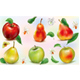 Apples and Pears on Transparent  Background - GraphicRiver Item for Sale