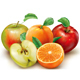 Apples and Orange Fruits on a White - GraphicRiver Item for Sale