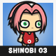 Pinky Hair Shinobi Girl (Haruno Sakura) - GraphicRiver Item for Sale