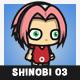 Pinky Hair Shinobi Girl (Haruno Sakura)