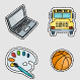 Back to School Stickers Set - GraphicRiver Item for Sale