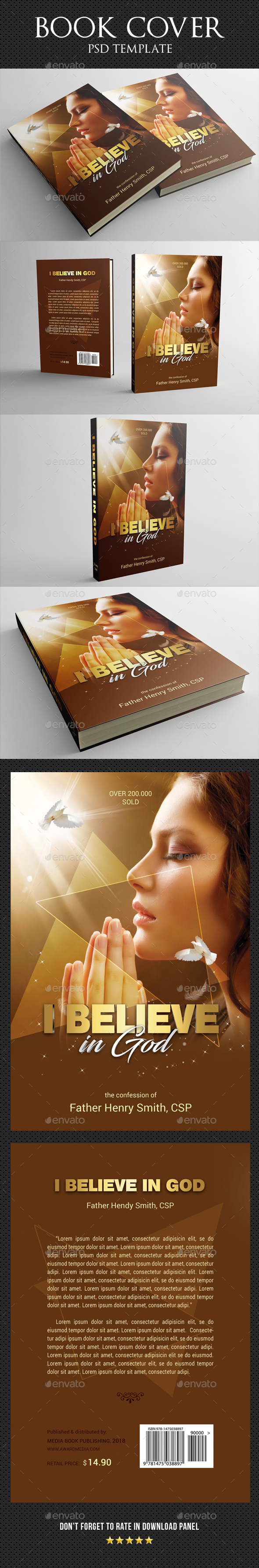 Believe In God Book Cover Template - Miscellaneous Print Templates