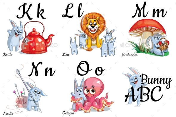 Vector Alphabet Letters for Kids with Pictures - Miscellaneous Vectors