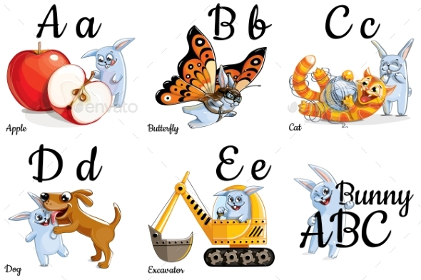 GraphicRiver Vector Alphabet Letters for Kids with Pictures 20407525