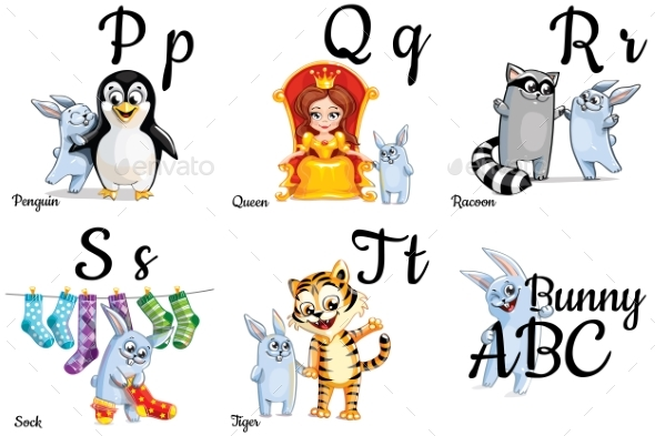 GraphicRiver Vector Alphabet Letters for Kids with Pictures 20407543