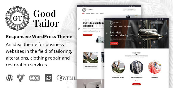 ThemeForest Good Tailor Tailoring Services WordPress Theme 20233476