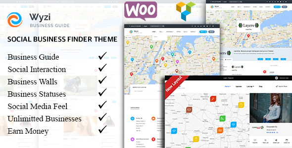 Wyzi - Business Finder and Service Provider Booking WordPress Social Look Directory Listing Theme - Directory & Listings Corporate