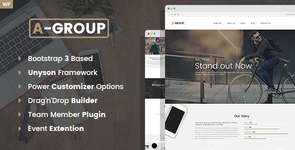 A-Group -  Business Company WordPress theme - Business Corporate