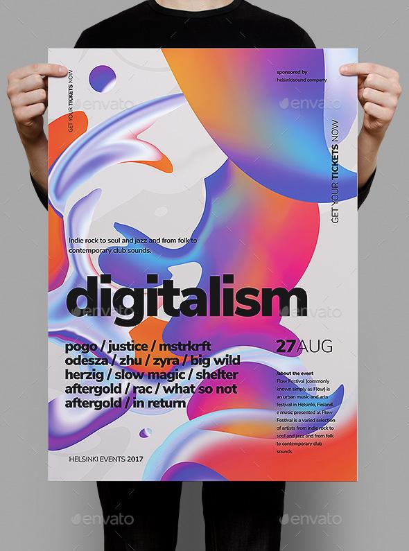 Digitalism Poster / Flyer - Events Flyers