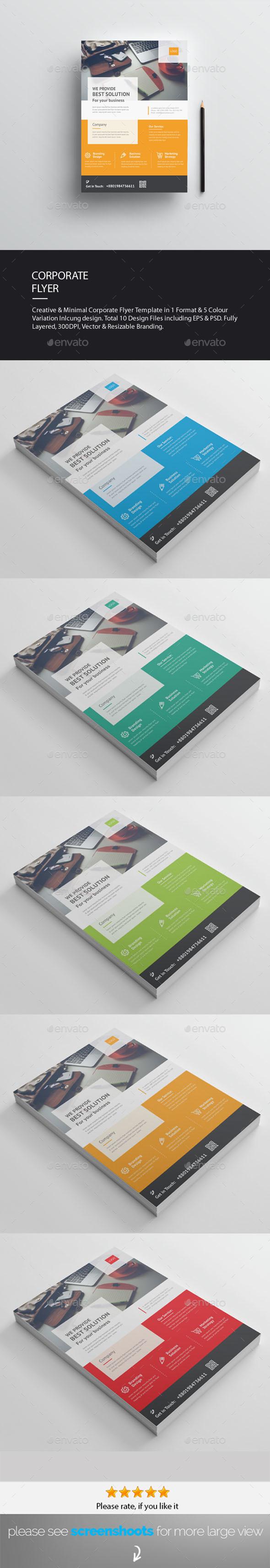 GraphicRiver Corporate Flyer AD Template 20408064