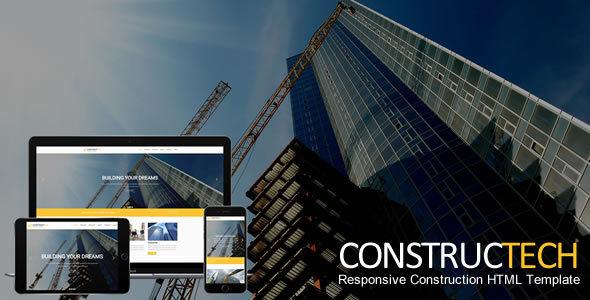 Constructech - Responsive Construction HTML Template