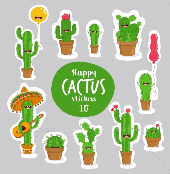 Cactus Stickers - Miscellaneous Characters