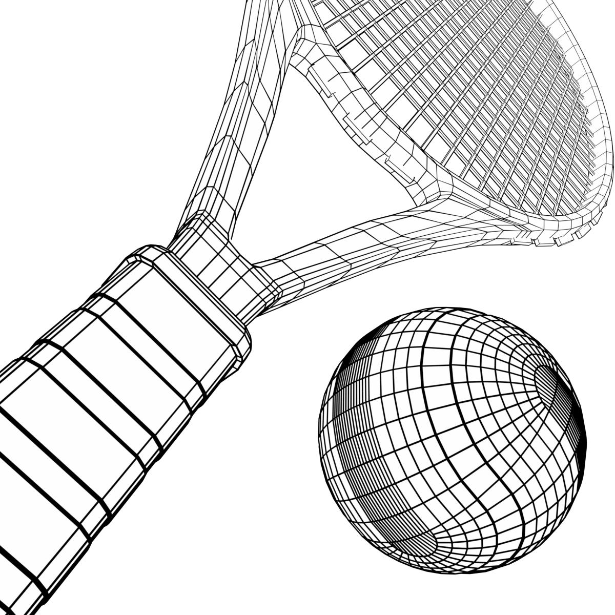Tennis Ball And Racket Set By Francescomilanese 3docean