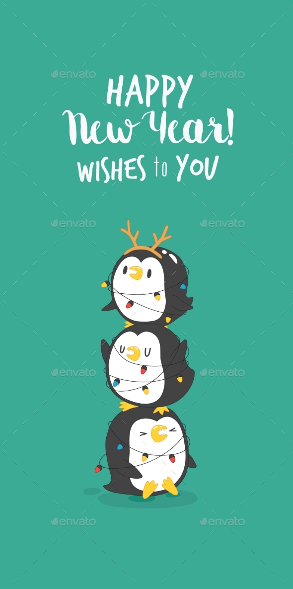 Set of Penguins - Animals Characters