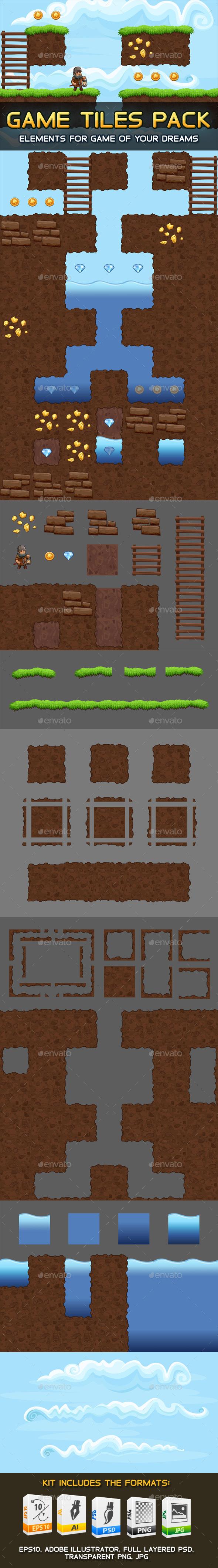 Game Tiles Pack - Tilesets Game Assets