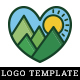 Love Mountain Logo Template