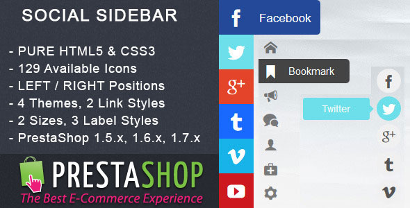 Social Sidebar - PrestaShop Module - CodeCanyon Item for Sale