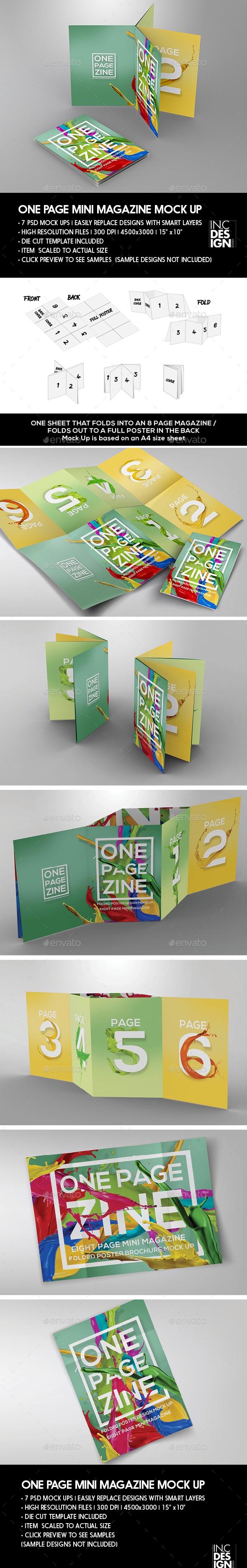 One Page Mini MagaZine | Foldout Poster Booklet - Magazines Print