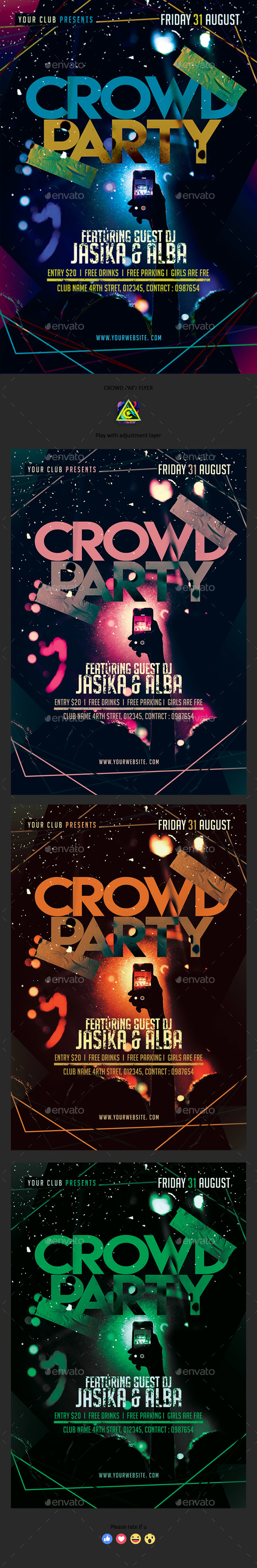 GraphicRiver Crowd Party Night 20408755