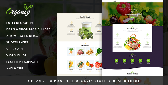 Organiz - A Powerful Organiz Store Drupal 8 Theme