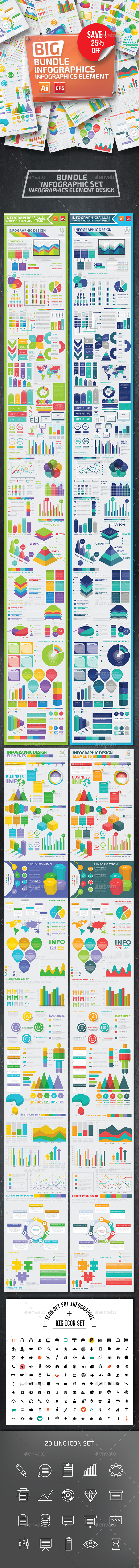 GraphicRiver Bundle Infographic Elements 20408933