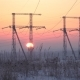Sunrise and Power Lines - VideoHive Item for Sale
