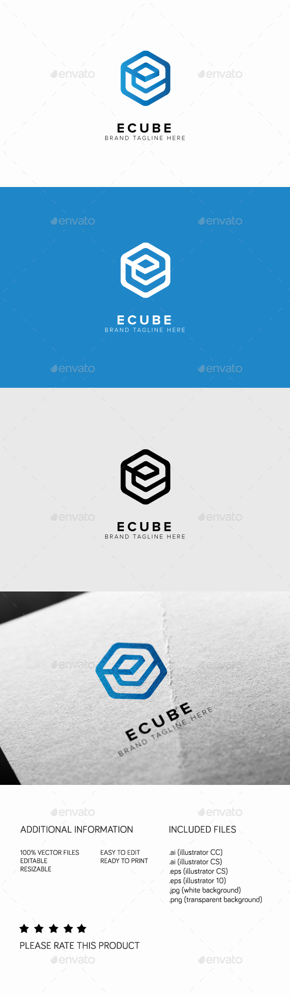 Ecube Logo - Letters Logo Templates