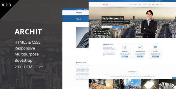 Archit - Responsive HTML5 Template - Creative Site Templates