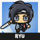 Ryu - 4 Directional 2D Character Sprite