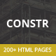 Constr - Multipurpose HTML5 Template - ThemeForest Item for Sale