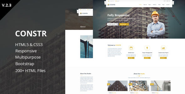 Constr - Multipurpose HTML5 Template - Corporate Site Templates