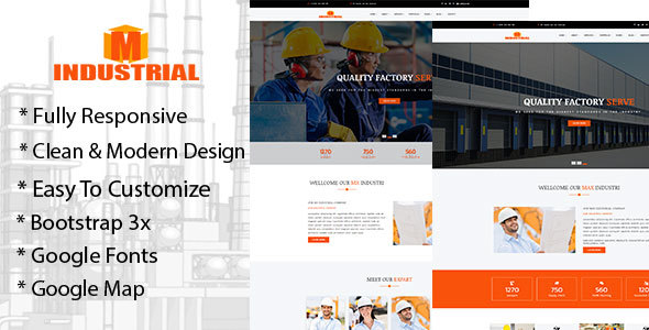 Mx-Industrial Industrial & Business HTML 5 Template