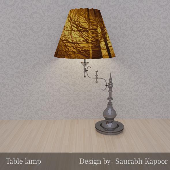 Designer Table lamp - 3DOcean Item for Sale
