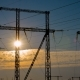 High-voltage Power Lines at Sunrise - VideoHive Item for Sale