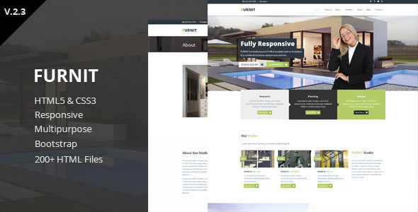 Furnit - Responsive HTML5 Template - Corporate Site Templates
