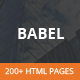 Babel - Responsive HTML5 Template - ThemeForest Item for Sale