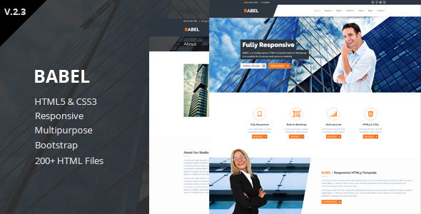 Babel - Responsive HTML5 Template - Business Corporate