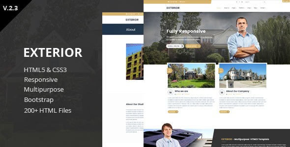Exterior - Multipurpose HTML5 Template - Corporate Site Templates