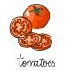 10 Vegetables Illustration Set