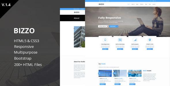 Bizzo - Multipurpose HTML5 Template - Corporate Site Templates