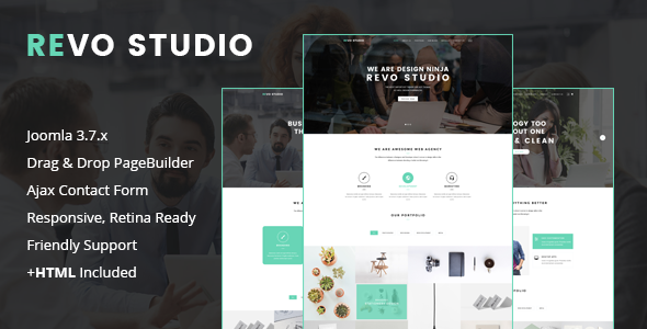 Revo Studio - Multipurpose Joomla Template