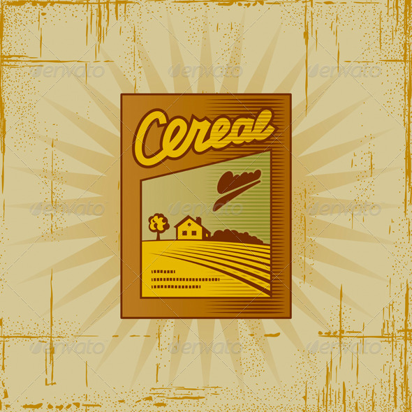 Retro Cereal Box - Food Objects