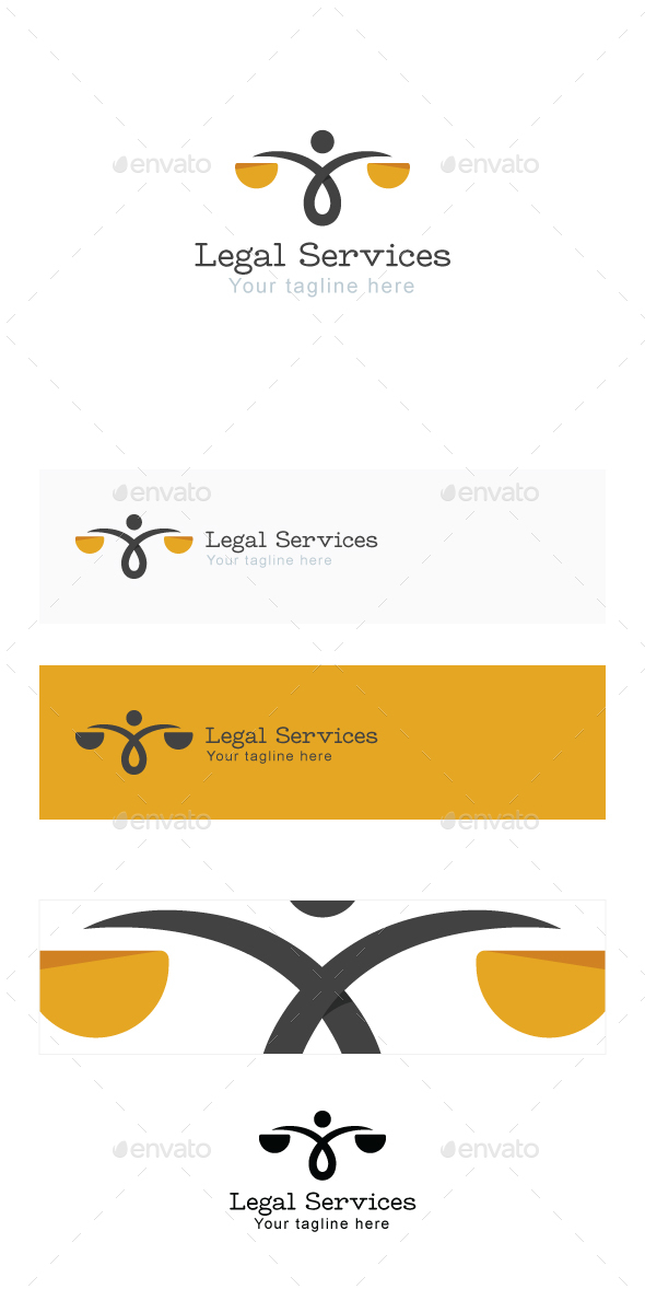 Legal Services Stock Logo Template - Symbols Logo Templates