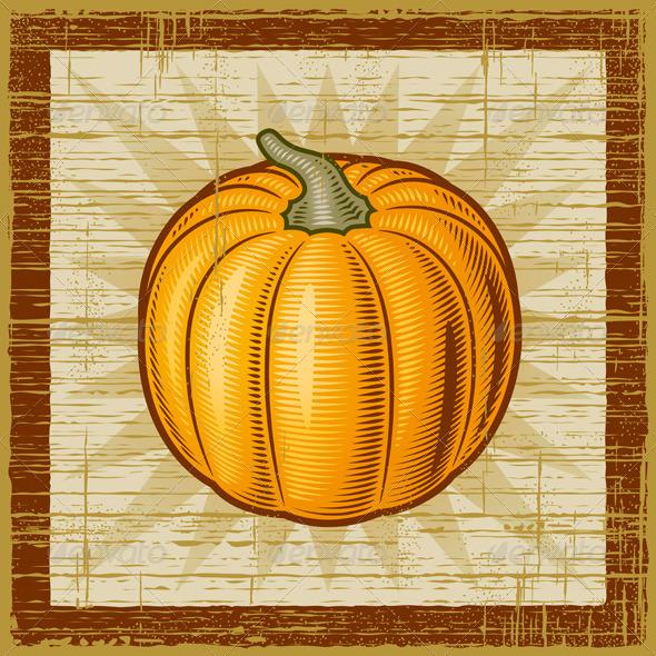 Retro Pumpkin - Food Objects