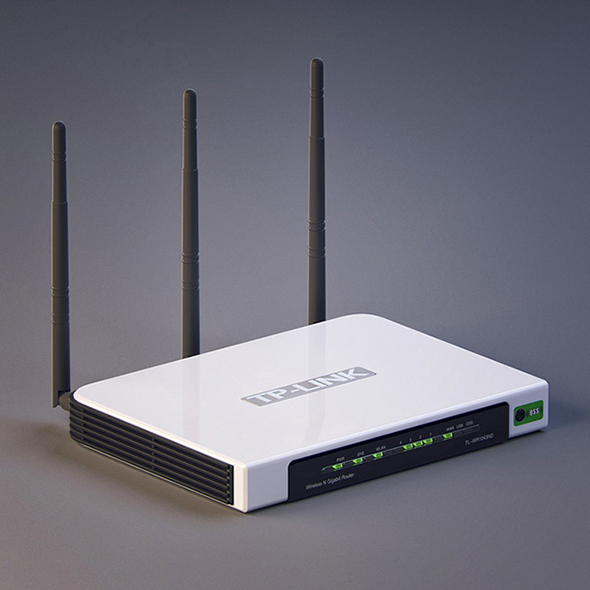 Vray Ready Wifi Router - 3DOcean Item for Sale