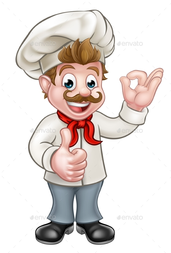 Chef Cartoon Character Mascot - People Characters