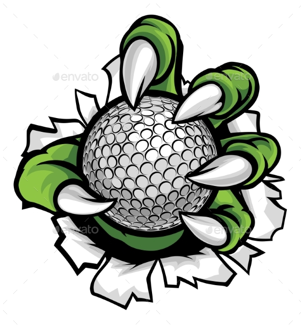 Monster or Animal Claw Holding Golf Ball - Animals Characters