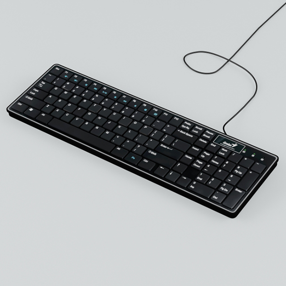 Vray Ready Computer Keyboard - 3DOcean Item for Sale